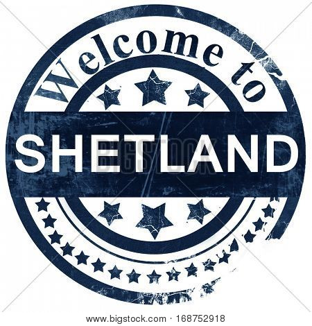 Shetland stamp on white background