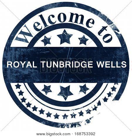 Royal tunbridge wells stamp on white background