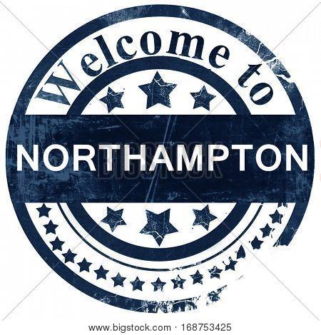 Northampton stamp on white background