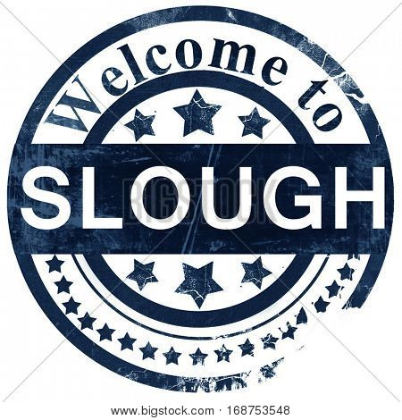 Slough stamp on white background