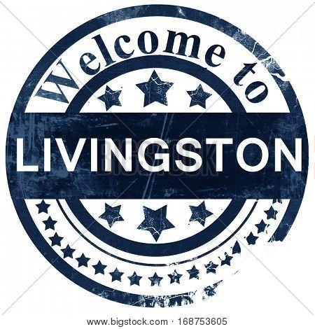 Livingston stamp on white background