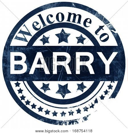 Barry stamp on white background