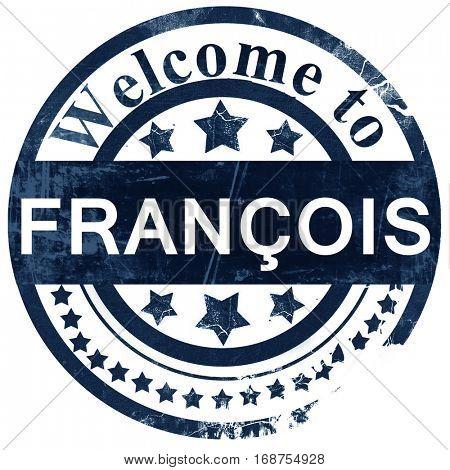 francois stamp on white background