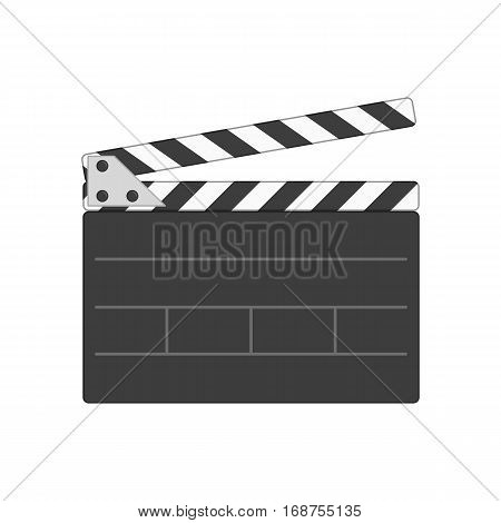 Director clapperboard icon. Movie clapper board in flat style isolated on white background. Clapperboard symbol for your web design, logo, UI. Vector illustration, EPS10.