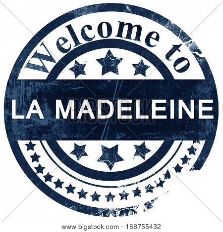 la madeleine stamp on white background