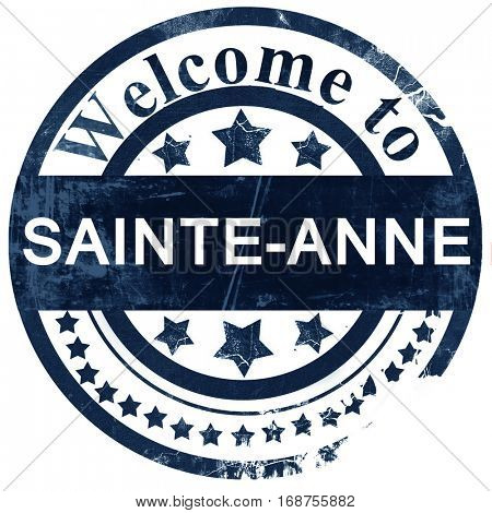 sainte-anne stamp on white background