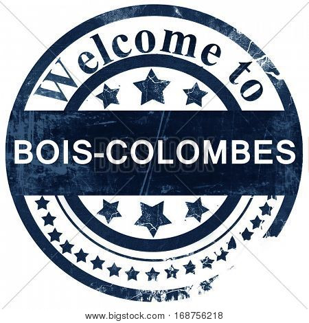bois-colombes stamp on white background
