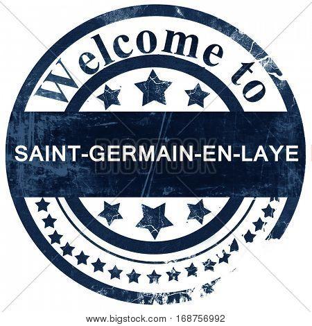 saint-germain-en-laye stamp on white background