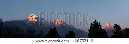 Wild Nature, Beauty And Grandeur. Panorama Of Amazing Peaks And Passes Of The Himalayan Mountain Ran