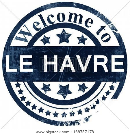 le havre stamp on white background