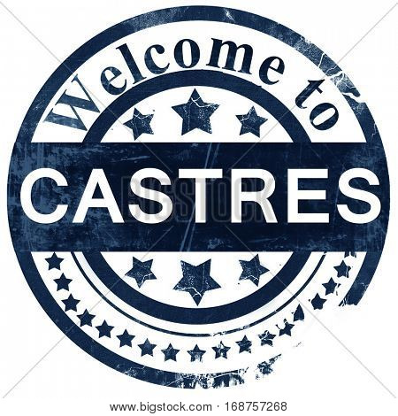 castres stamp on white background