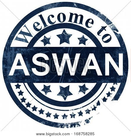 aswan stamp on white background
