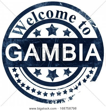 Gambia stamp on white background
