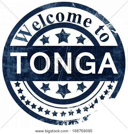 Tonga stamp on white background