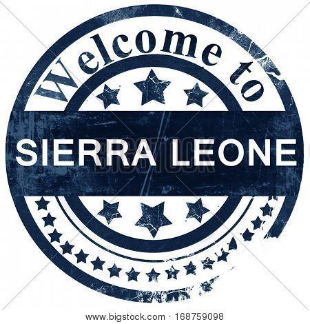 Sierra leone stamp on white background