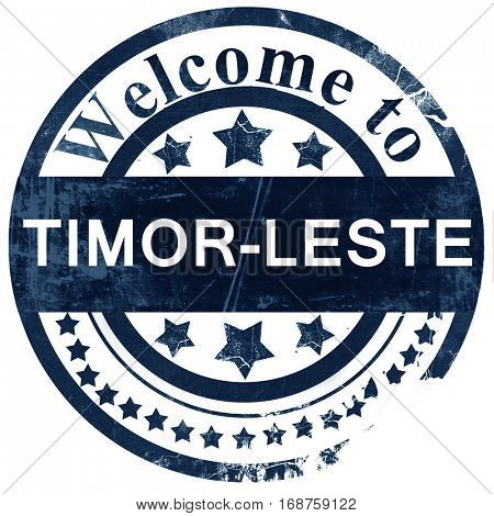 Timor-leste stamp on white background