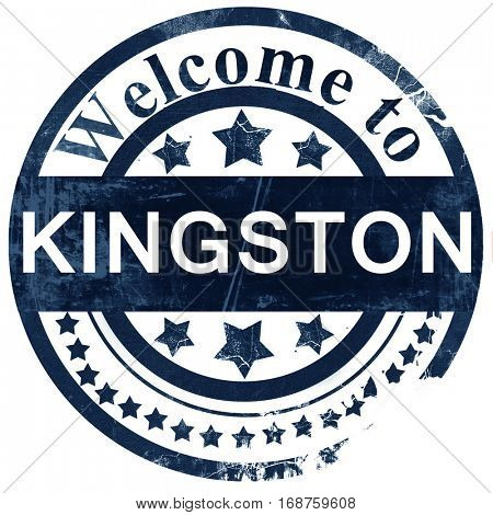 Kingston stamp on white background