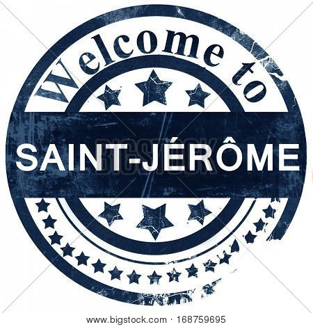 Saint-jerome stamp on white background