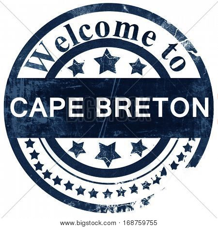 Cape breton stamp on white background
