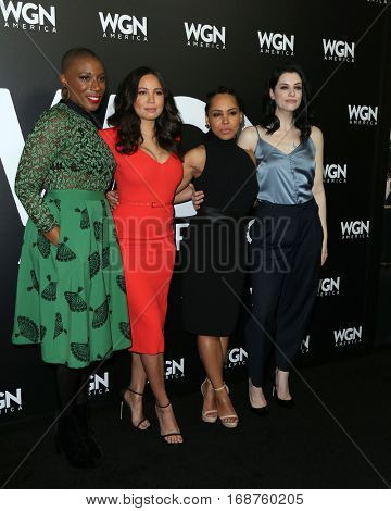 LOS ANGELES - DEC 13:  Aisha Hinds, Jurnee Smollett-Bell, Amirah Vann, Jessica De Gouw at the WGN America's