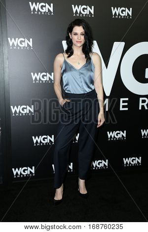 LOS ANGELES - DEC 13:  Jessica De Gouw at the WGN America's