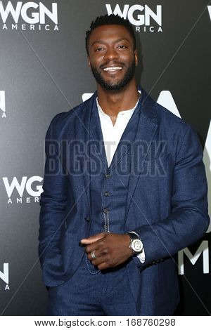 LOS ANGELES - DEC 13:  Aldis Hodge at the WGN America's