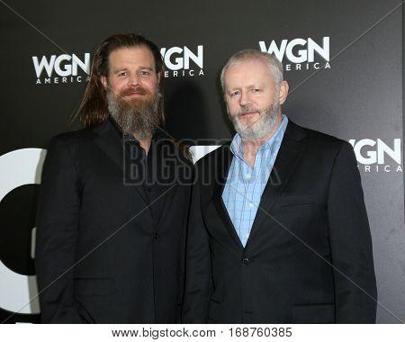 LOS ANGELES - DEC 13:  Ryan Hurst, David Morse at the WGN America's