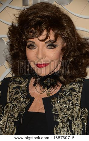 LOS ANGELES - JAN 8:  Jackie Collins at the HBO Golden Globes After-Party at Circa 55 at Beverly Hilton Hotel on January 8, 2017 in Beverly Hills, CA