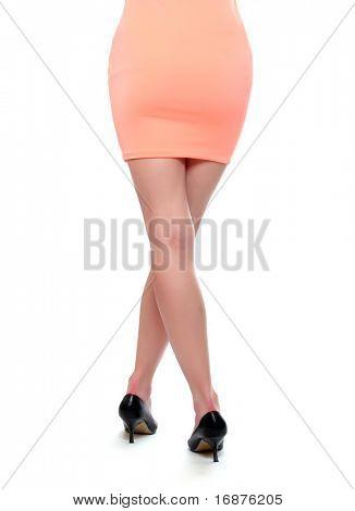 Attractive slenderness girl back