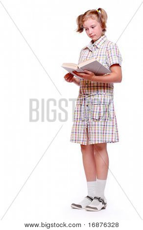 Pretty girl with books. Back to school.