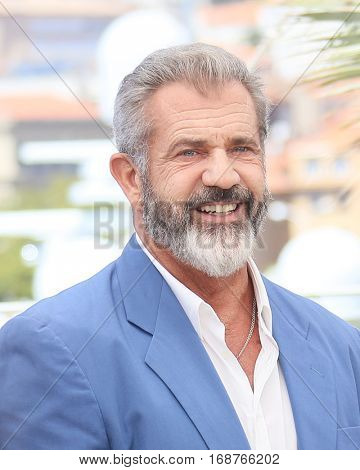Mel Gibson attends the 'Blood Father' Photocall during the 69th annual Cannes Film Festival at Palais des Festivals on May 21, 2016 in Cannes, France