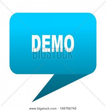 demo blue bubble icon