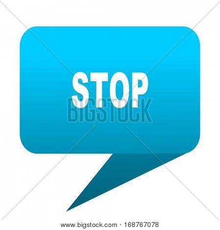 stop blue bubble icon