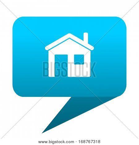 House blue bubble icon