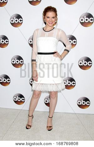 LOS ANGELES - JAN 10:  Sarah Drew at the Disney/ABC TV TCA Winter 2017 Party at Langham Hotel on January 10, 2017 in Pasadena, CA