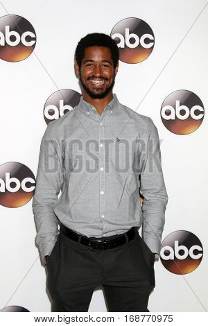 LOS ANGELES - JAN 10:  Alfred Enoch at the Disney/ABC TV TCA Winter 2017 Party at Langham Hotel on January 10, 2017 in Pasadena, CA