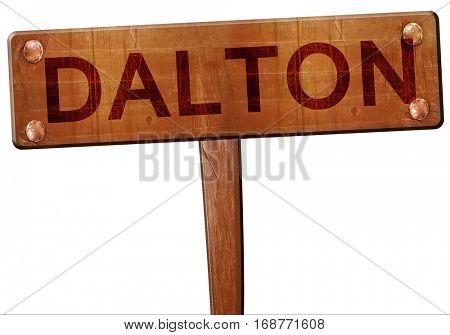 dalton road sign, 3D rendering