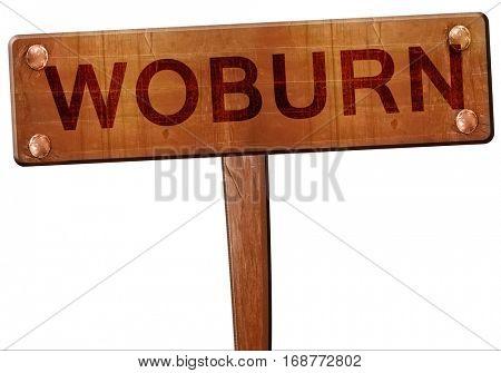 woburn road sign, 3D rendering