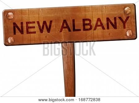 new albany road sign, 3D rendering
