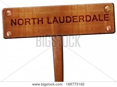 north lauderdale road sign, 3D rendering