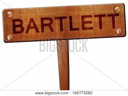 bartlett road sign, 3D rendering