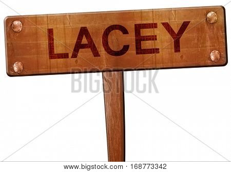 lacey road sign, 3D rendering