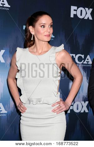LOS ANGELES - JAN 11:  Sarah Wayne Callies at the FOX TV TCA Winter 2017 All-Star Party at Langham Hotel on January 11, 2017 in Pasadena, CA