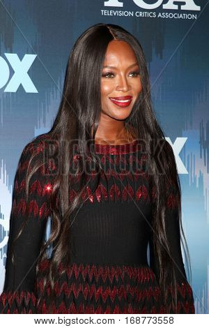 LOS ANGELES - JAN 11:  Naomi Campbell at the FOX TV TCA Winter 2017 All-Star Party at Langham Hotel on January 11, 2017 in Pasadena, CA
