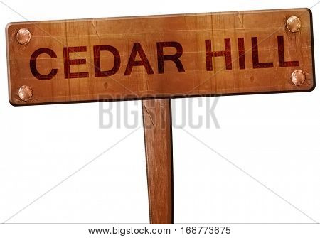 cedar hill road sign, 3D rendering