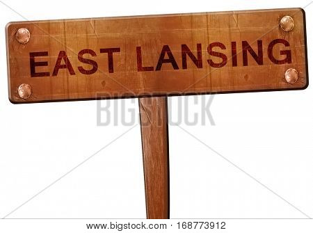 east lansing road sign, 3D rendering