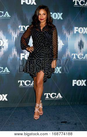 LOS ANGELES - JAN 11:  Sanaa Lathan at the FOX TV TCA Winter 2017 All-Star Party at Langham Hotel on January 11, 2017 in Pasadena, CA