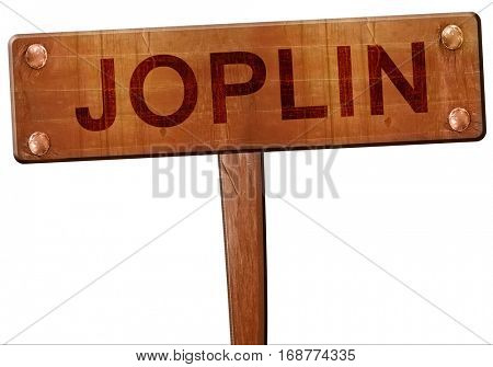 joplin road sign, 3D rendering