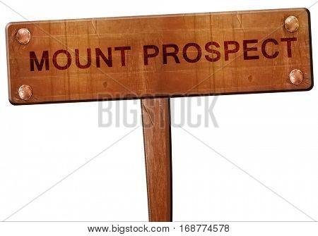 mount prospect road sign, 3D rendering