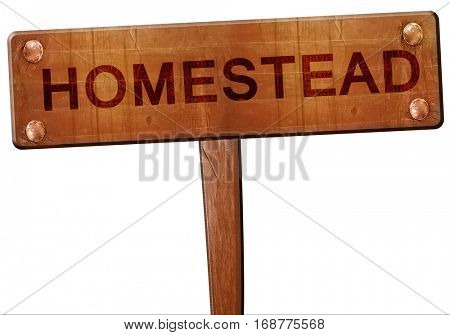 homestead road sign, 3D rendering